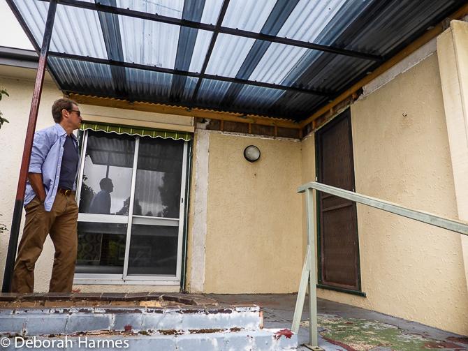 Pre-reno front porch