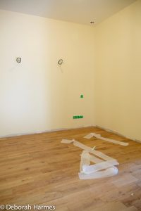 Master bedroom with new walls, painted, with new timber floors installed.